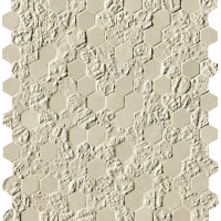 Bloom Beige Print Esagono Mosaico 29,5x325
