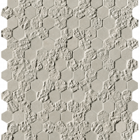 Bloom Grey Print Esagono Mosaico 29,5x32,5