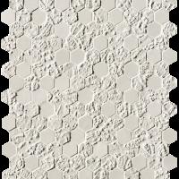 Bloom White Print Esagono Mosaico 29,5x32,5