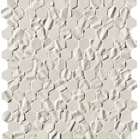Bloom White Star Esagono Mosaico 29,5x32,5