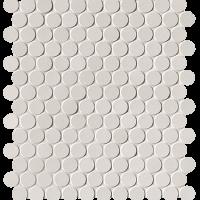 Milano & Floor Bianco Round Mosaico Matt 29,5x32,5