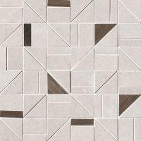 Nux White Outline Mosaico 30x30